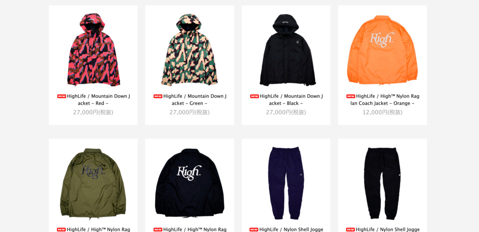 HighLife Online Store | ハイライフ公式オンラインストア